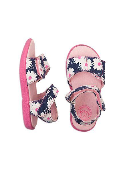 Pumpkin Patch - footwear - girls  flower sandal - S4FW30029 - ribbon blue - 4 to 11