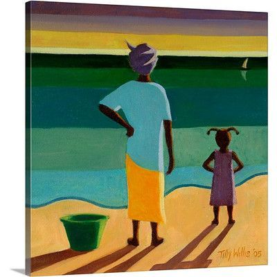"""Canvas On Demand Waiting, 2005 by Tilly Willis Painting Print on Canvas Size: 24"""" H x 24"""" W x 1.25"""" D"""