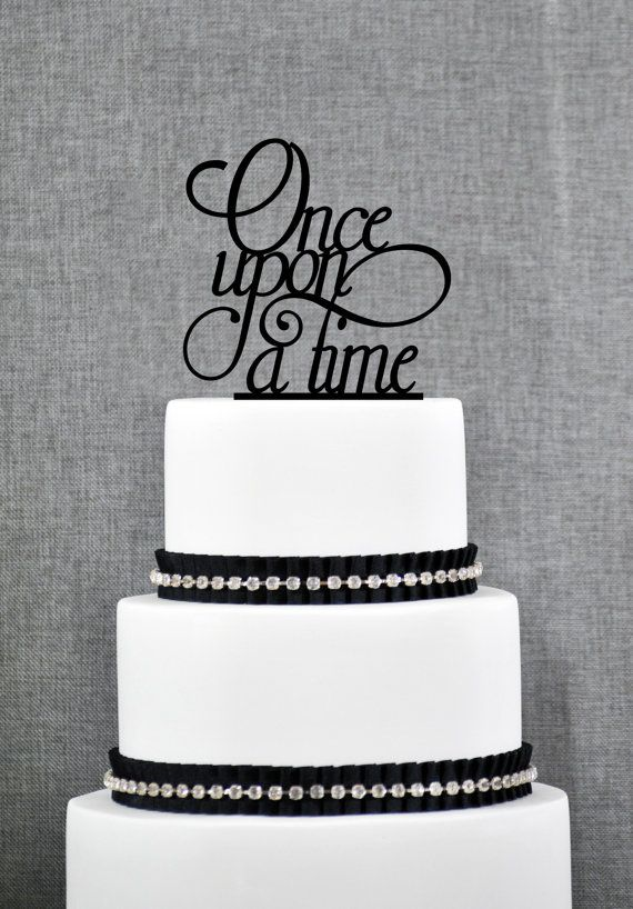 Once Upon A Time Cake Topper Modern Wedding Cake by ChicagoFactory