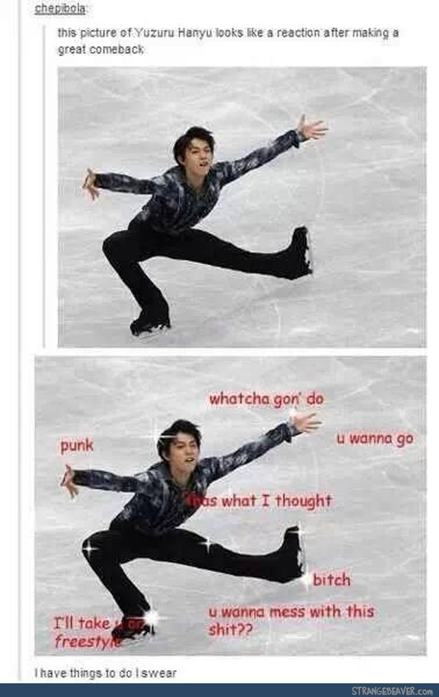 He's actually such a great skater, but, still, this is hilarious