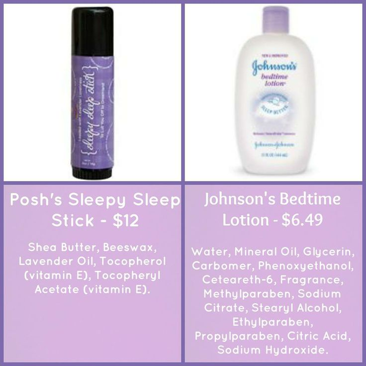 Perfectly Posh Sleep Sleep Stick vs. Johnson's Bedtime Lotion www.perfectlyposh.com/sarahposhoregon