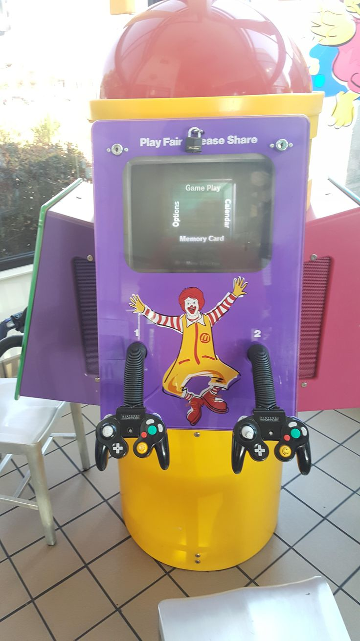 This McDonald's had a GameCube Station in their Play Place.