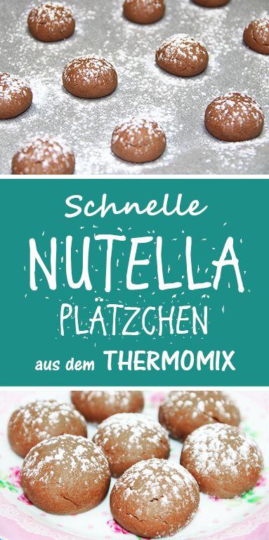 Schnelle Nutella Plätzchen – nur 4 Zutaten. Einfaches Thermomix Rezept.