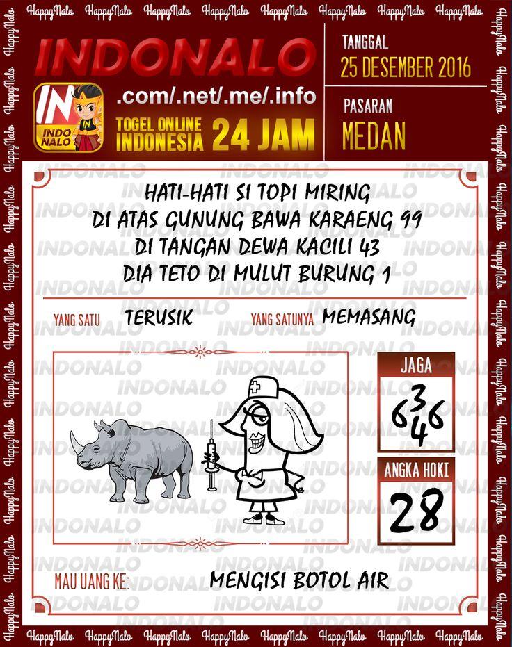 Kode Wangsit 2D Togel Wap Online Live Draw 4D Indonalo Medan 25 Desember 2016