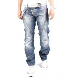 Cipo & Baxx dżinsy Zipper i C-0751 Niebieski - Only €69.95 1S1H