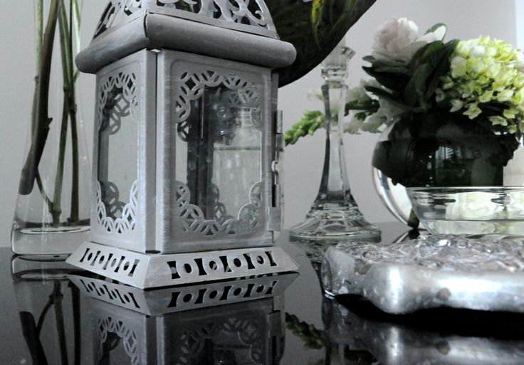 Ask us about our silver and glass decor accents...