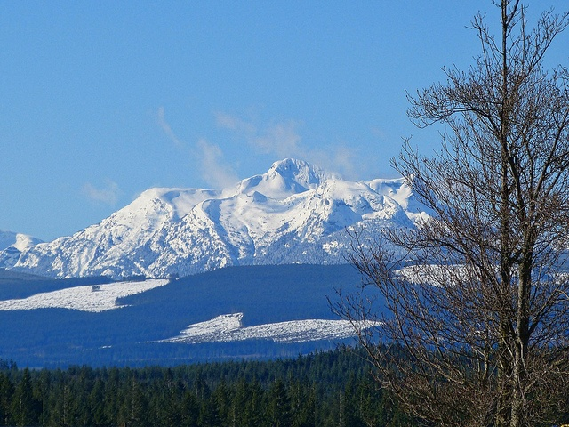 Here's a view we all love on a clear day. This is Mt Golden Hinde, Vancouver Islands tallest mountain.