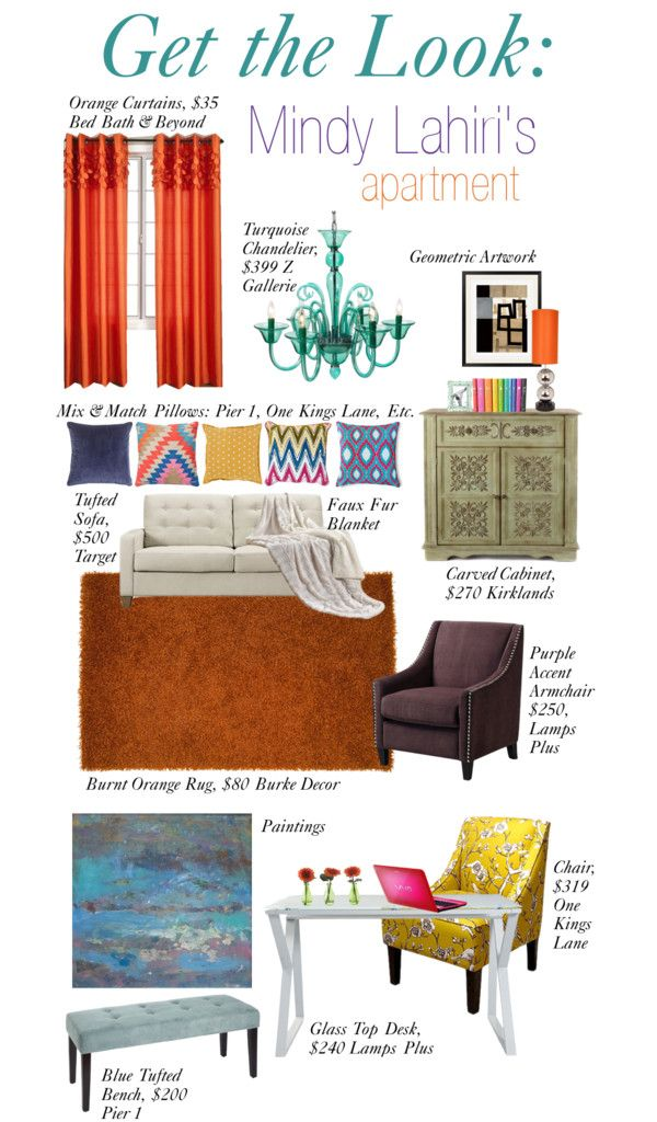 Decorate like Mindy Lahiri on The Mindy Project.  The Lovely Side: Get the Look: Mindy's Apartment | On Screen Decor: The Mindy Project