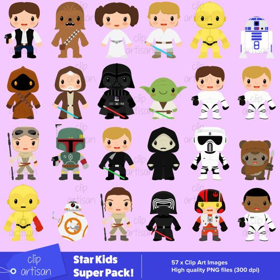 Star Kids Super Pack / Clipart / Star Kids 1 2 3 by ClipArtisan