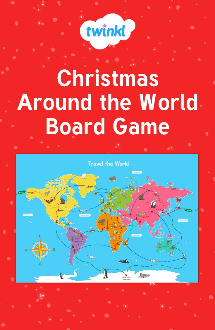 Christmas colouring in sheets twinkl - Christmas Around The World Board Game For Children