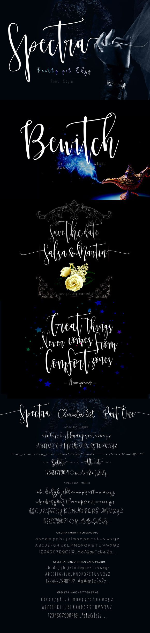 Spectra Font Family, Opening Sale by mycandythemes on @creativemarket