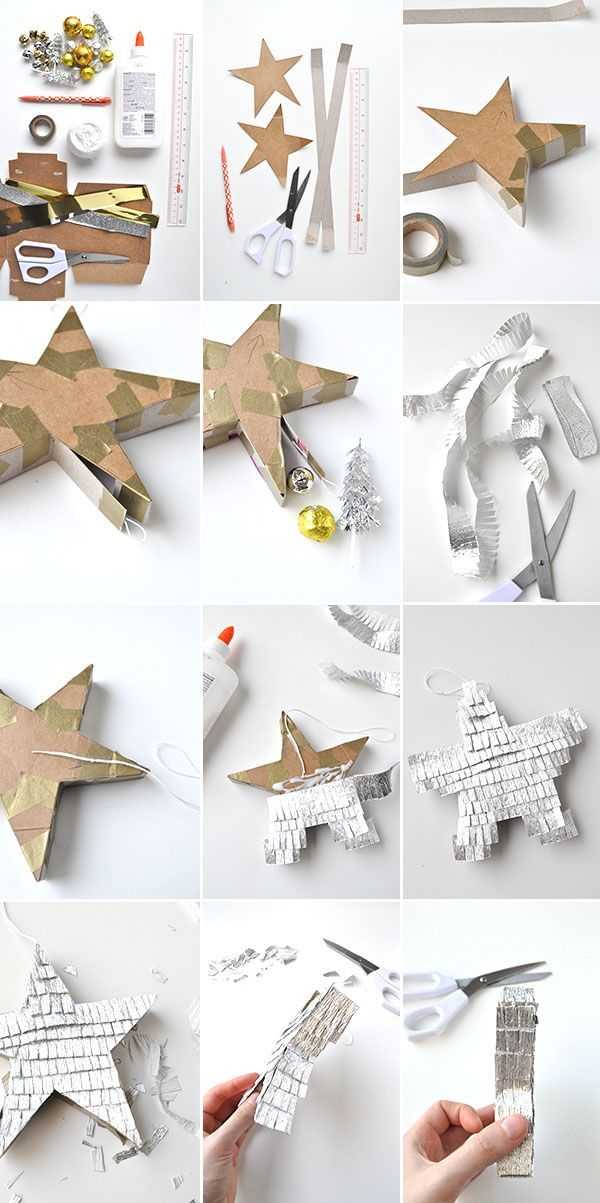 Silver & Gold Star Piñatas | Oh Happy Day!