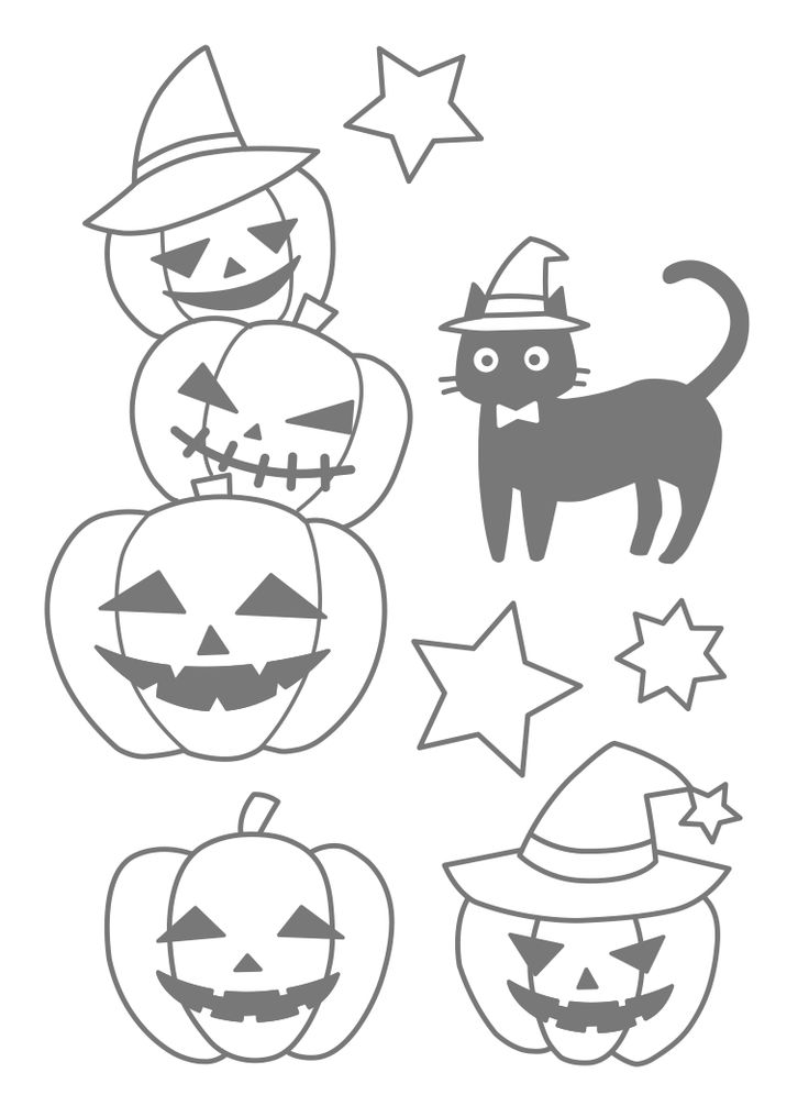 kawaii halloween coloring pages - photo#6