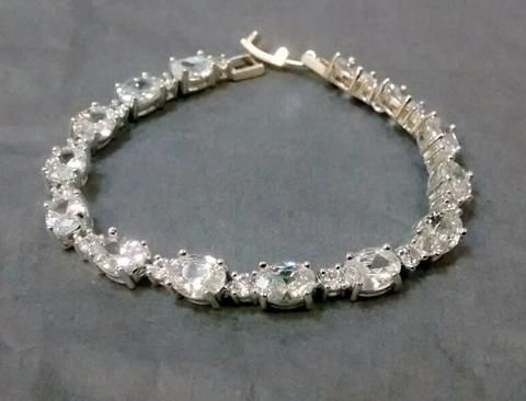 Beautiful Crystal Wedding Bracelet, Ava