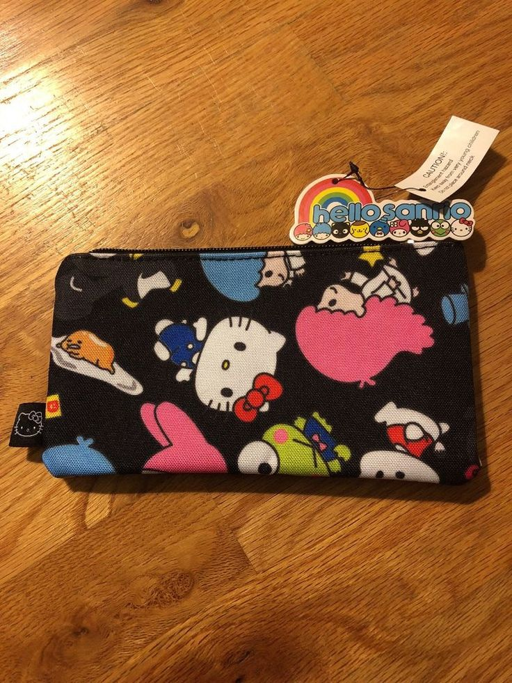 hello sanrio loungefly pencil or cosmetic small zippered pouch bag  | eBay