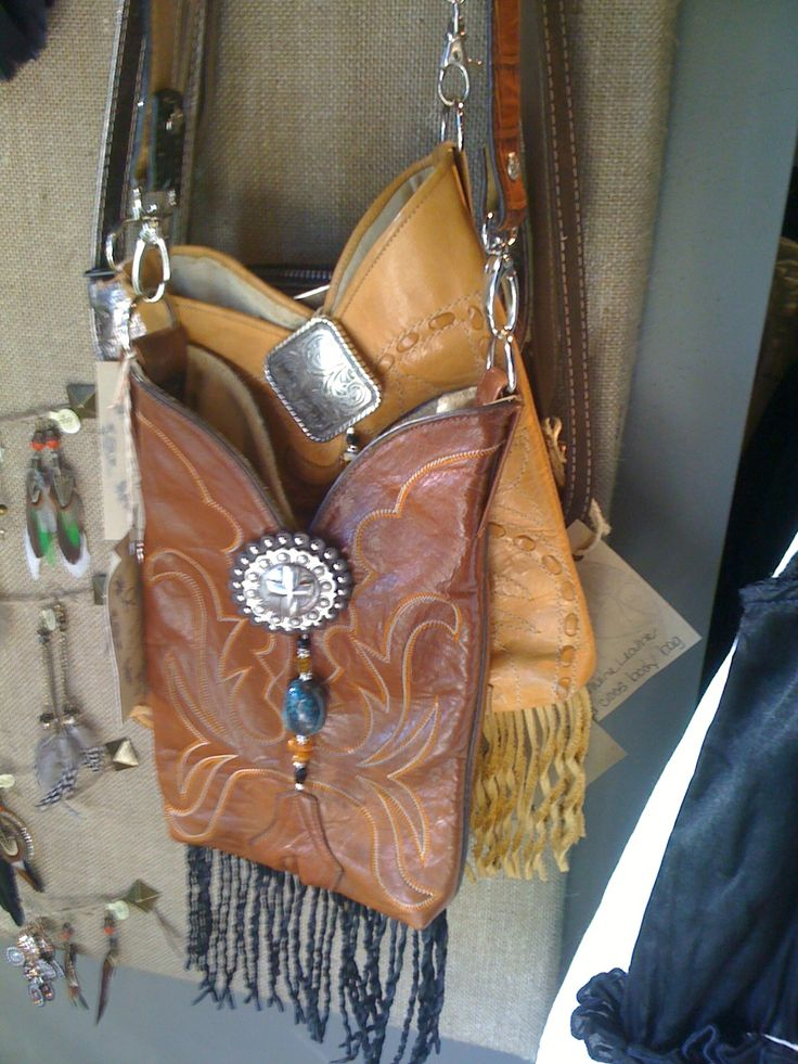 A New Take on an Old Boot - Vignette purse....I bought a new purse that looked like this!