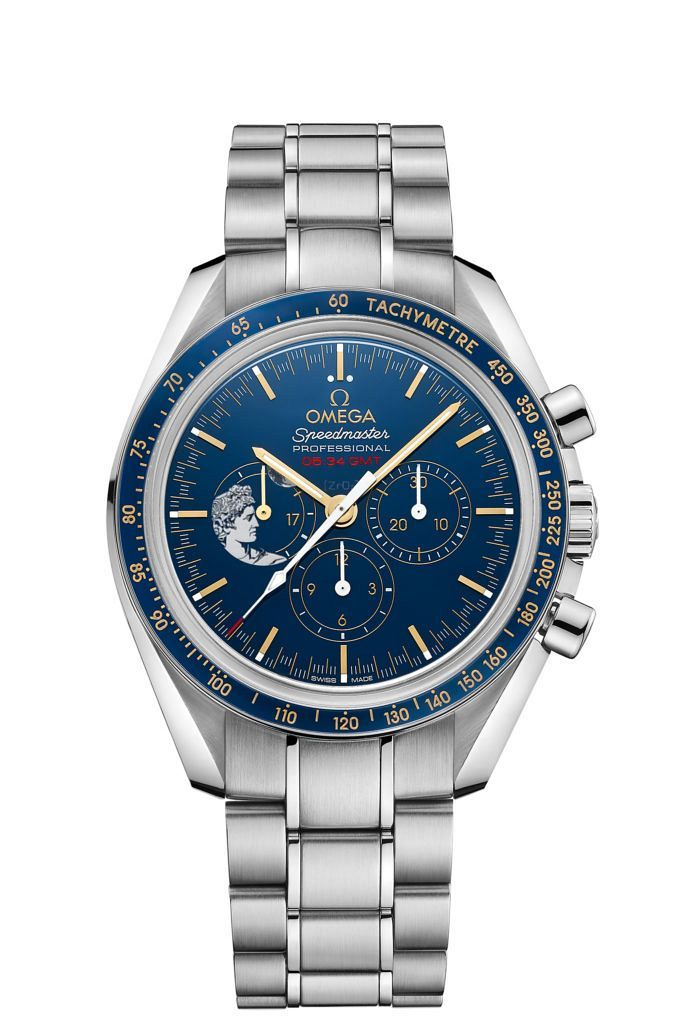 """First vision of the just announced new Speedy: Omega CEO Raynald Aeschlimann announces the Speedmaster """"Apollo XVII"""" Limited Edition released at Baselworld 2017. It is dedicated to the last man on the moon, astronaut Gene Cernan."""