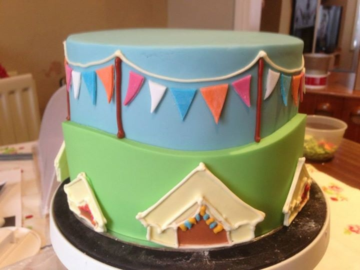 Glovefest cake 2.  One of three cakes for glamping bell tent 40th birthday festival party.  Chocolate marble cake with marbled chocolate ganash . Made by Kasserina.