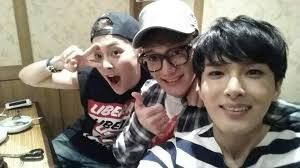 xiumin instagram with Chen (?) and Ryuwook