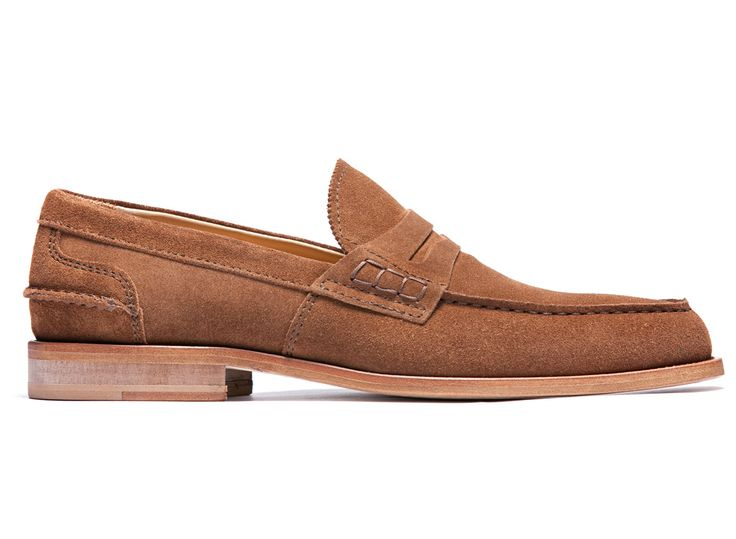 Tobacco Brown Loafers in Suede Leather - El Refinàa - Velasca - Men's Fashion