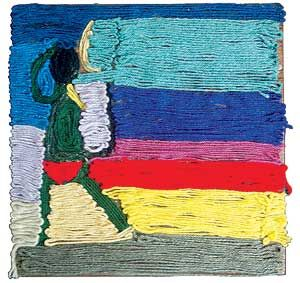 Teach a Huichol (Mexico) tradition - and have fun.  If you don't have the wax, posterboard and yarn work just fine.
