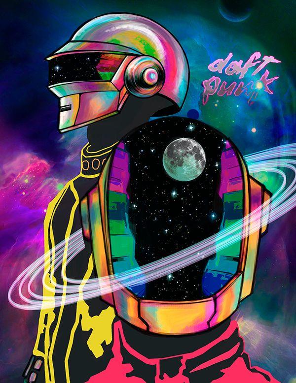 Daft Punk – Promi-Porträts // Editorial Illustration
