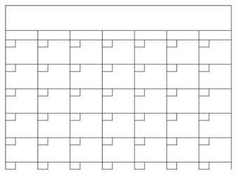 Need a blank calendar template?  Here it is!  This works great as a newsletter for parents, planning tool or to have students complete it as a lesson.