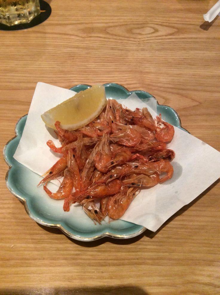 川海老の唐揚げ Deep fried Kawaebi shrimps