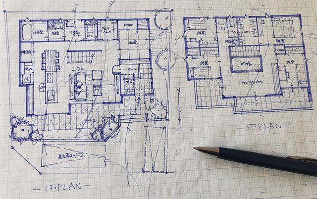 出来ること こうやって間取りを作ることが自分が出来ることだからお客様家族の笑顔を思いただただ形にするのみです 間取り 住宅デザイン 建築デザイン 空間デザイン 住まいづくり 家事動線 空間設計 デザイナー 手作業 子育て こどもと暮らす 建築学生 建築女子 手書き
