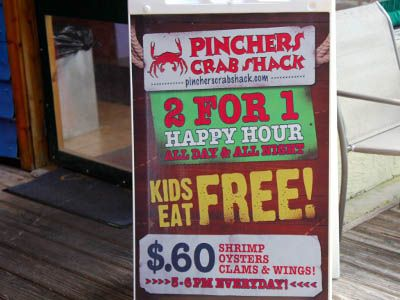 Pinchers crab shack tin city kids eat free everyday for City fish market fort myers