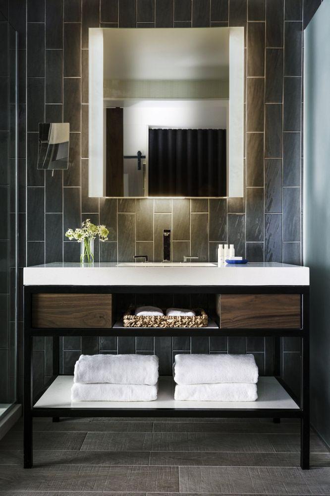 Photo Of Kimpton Rowan Palm Springs Hotel Palm Springs Ca United States Guestroom Bathroom Vanity Bathroom Styling Palm Springs Hotels Hotel Style