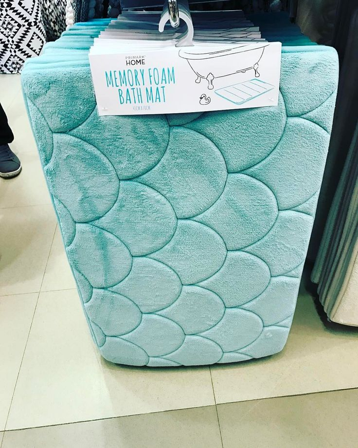 Mermaid Memory Foam Bath Mat From Primark Uk For The