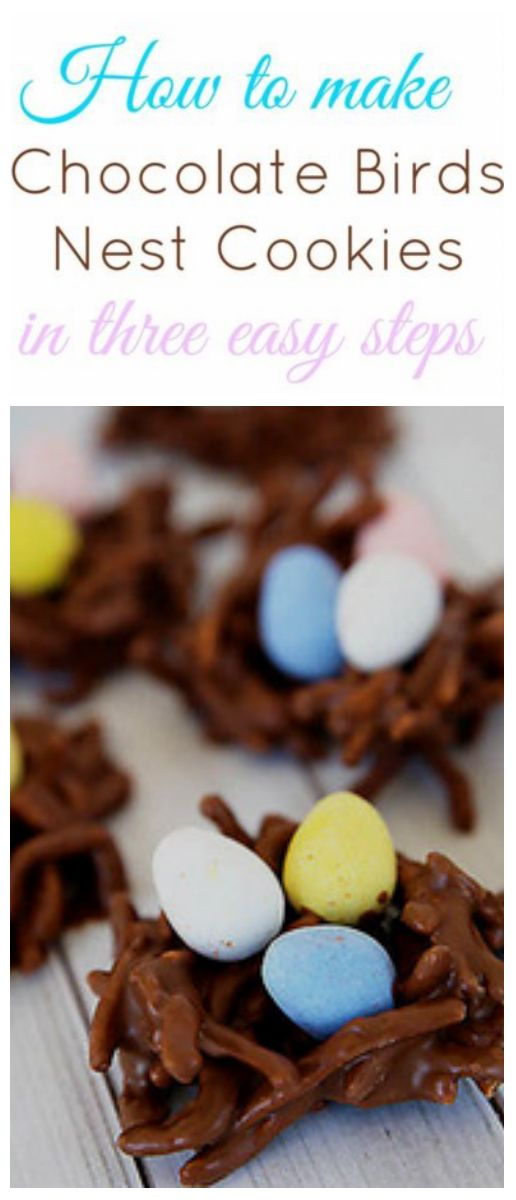 Gather the kids together for afternoon of fun! Kids love making these easy no-bake cookies! What could be more fun than making your own birds nests (and eating a sweet treat too)? In just three easy steps you can make these delicious cookies, the perfect Easter treat!