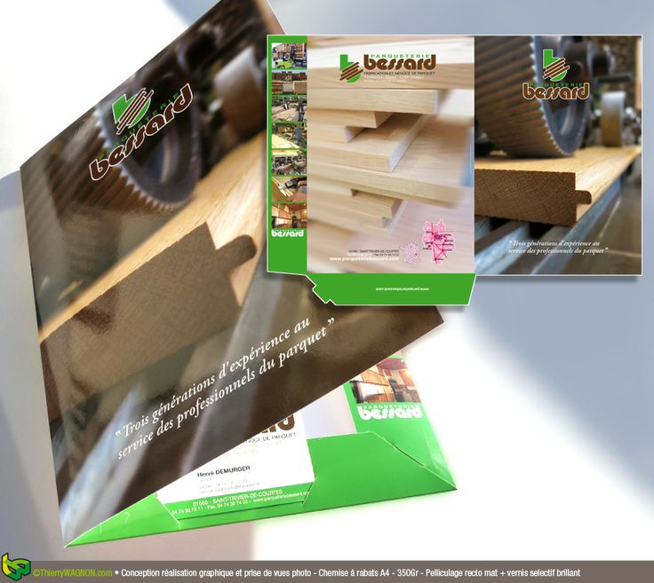 Conception, réalisation graphique et prises de vues photo - Chemise à rabat A4 - 350 Gr Pelliculage recto/verso brillant