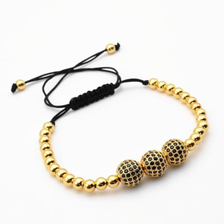 18kt Gold Plated CZ Bead Balls (3 colors)