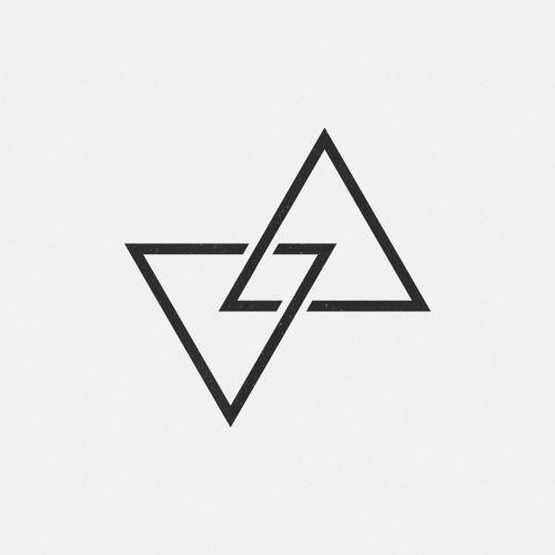 best 25 geometric triangle tattoo ideas on pinterest