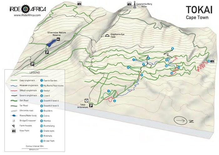 Tokai mountain 3D bike map
