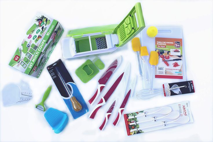 THE GREAT CHEF COOKING KIT 69€ - Mandolin (Multi Cutter) and Peeler, Ceramic Knives, Measuring Jug, Timer, Kitchen Glove, Cooking Injector, Whisk, Spatulas and Brush, Mixing Spoons and Table - by http://www.amazon.de/gp/aag/main?seller=A1QPL980FAHTMT