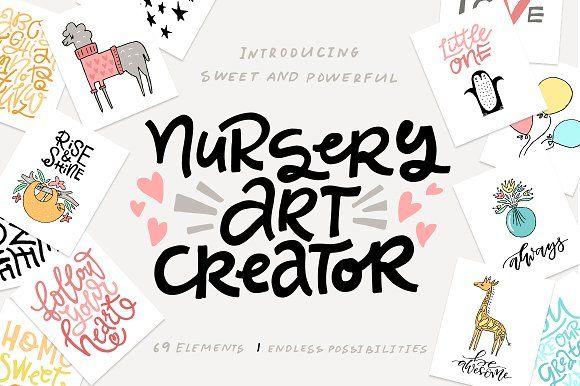 Nursery Art Creator - DIY pack by Favete Art on @creativemarket