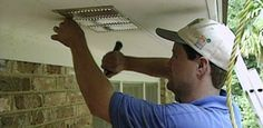 Find out how to improve the ventilation in your attic by installing soffit vents under the eaves of your house. Watch this video to find out more.