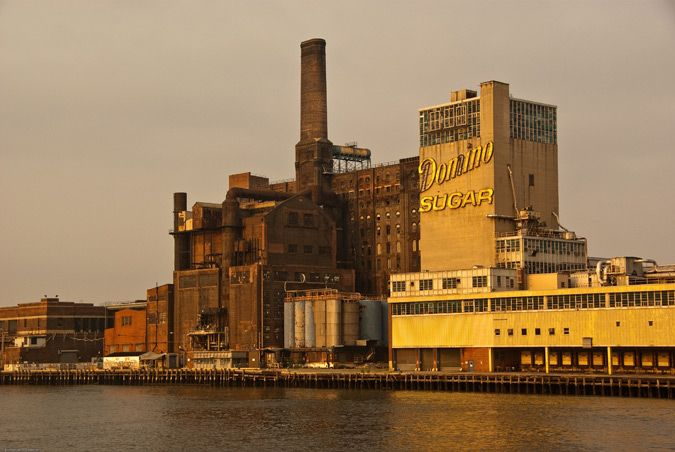 The Domino Sugar factory on Brooklyn's East River. My favorite Aunt worked there for man years...