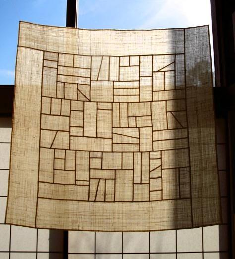 Perfect example of jogakbo translucent Koran patchwork 苧麻のポジャギ