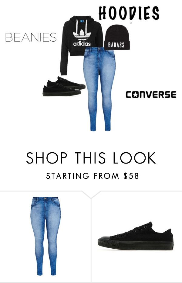 """Untitled #1"" by medleynyla-1 ❤ liked on Polyvore featuring adidas Originals, City Chic and Converse"