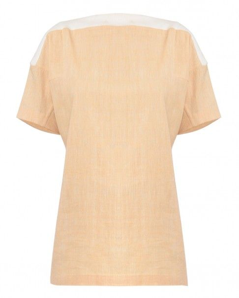 Latte Rib Boat Neck Top