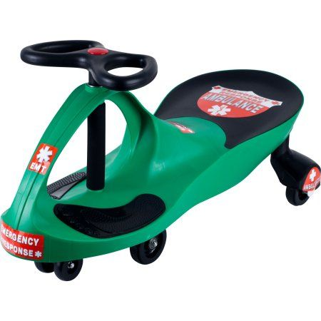 Ride on Toy, Ambulance Car Ride on Wiggle Car by Hey! Play! – Ride on Toys for Boys and Girls, 2 Year Old And Up, Green