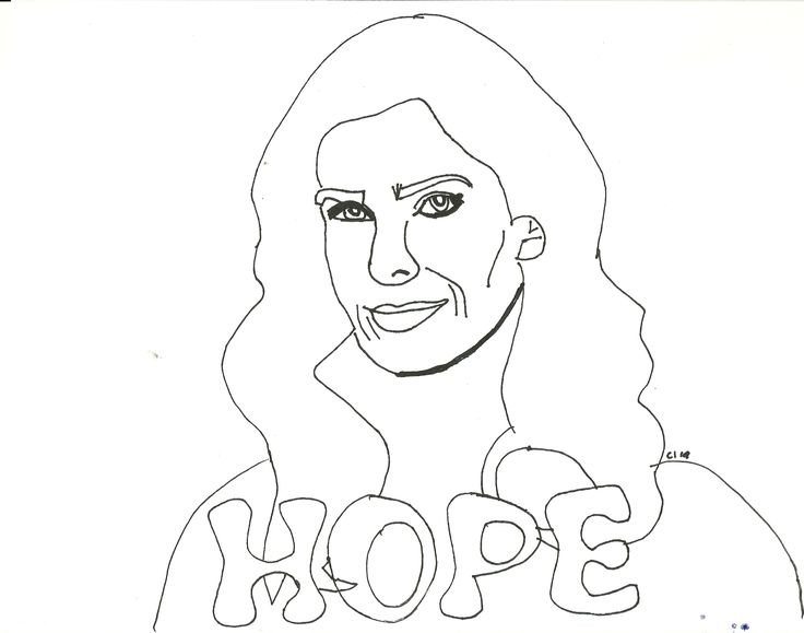 hope brady kristian alfonso drawing coloring page - Celebrity Coloring Book