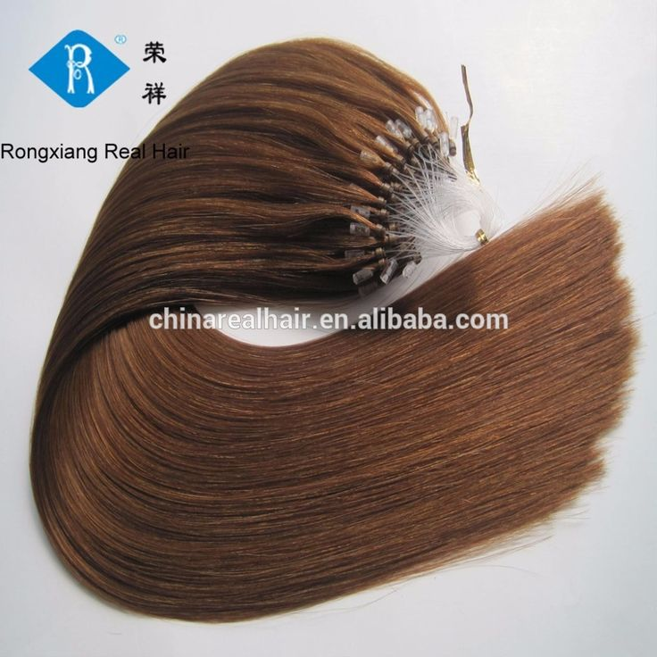 Cheap 100% natural human remy hair keratin micro ring hair extensions