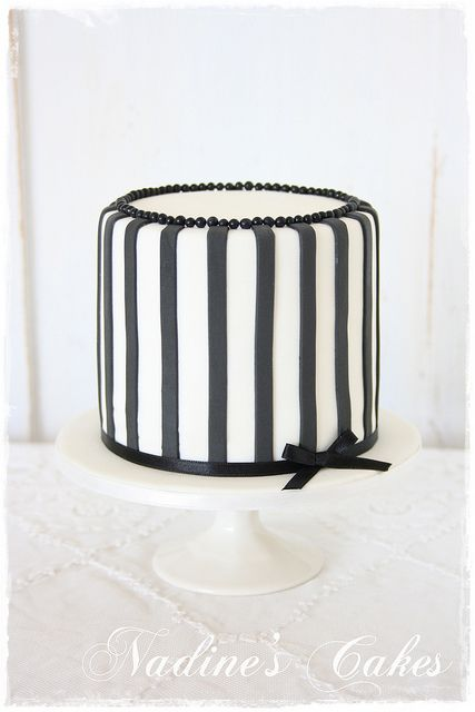 This Would Be Cute For For A Fashionista Friend S Bridal Shower Or Bachelorette Cake By Black White