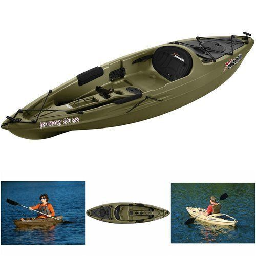 Sit-On-Kayak-Top-Fishing-Paddle-10-039-Boat-River-Lake-Sports-Gear-One-Person-Seat