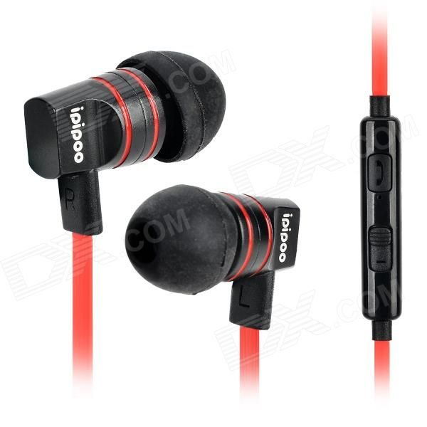 Color: Black + Red; Brand: Others,ipipoo; Model: ip-A200Hi; Material: ABS; Quantity: 1 Piece; Shade Of Color: Black; Headphone Style: In-Ear; Connection: 3.5mm; With Microphone: Built-in; Remote: Yes; Left & Right Calbes Type: Equal Length; Volume Control: Support; Cable Length: 130 cm; Sensitivity: 116dB+/-3dB; Driver Unit: 10mm; Frequency Response: 20~20000Hz; Impedance: 16 ohm; Packing List: 1 x Earphone4 x Earbuds1 x Clip; http://j.mp/1ljQoOI